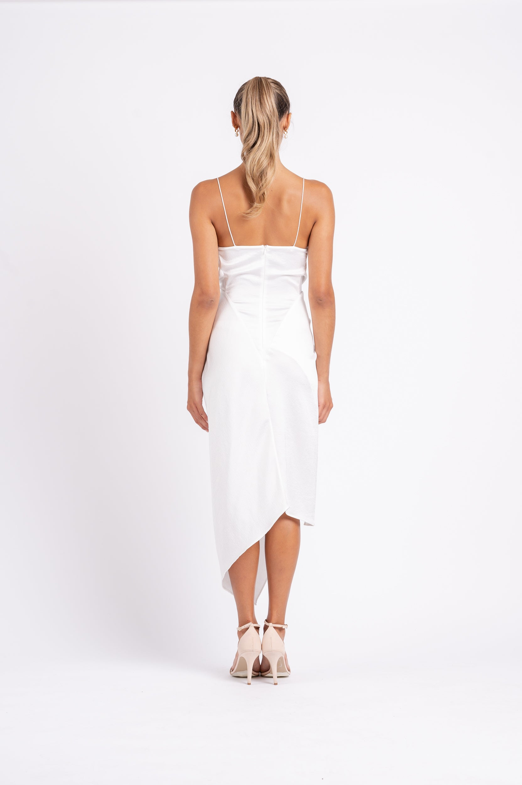 LE LUXE MIDI IN WHITE ON WHITE PO