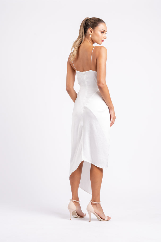 LE LUXE MIDI IN WHITE ON WHITE