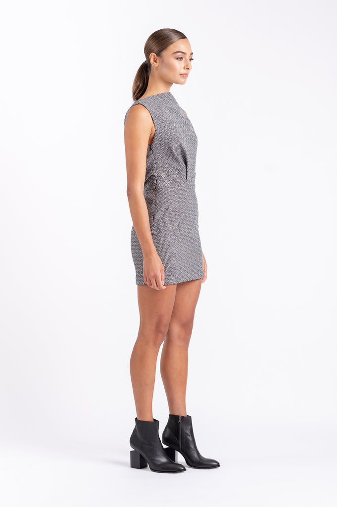 TWIGGY DRESS IN STATIC NOISE