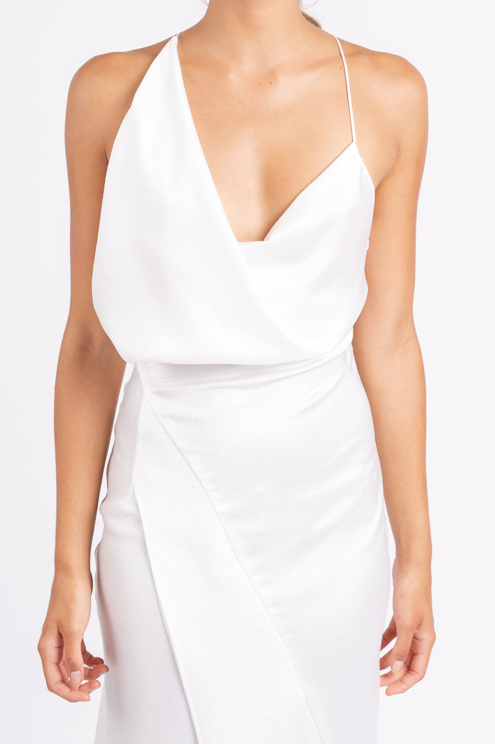 MUSE DRESS IN WHITE ON WHITE PO