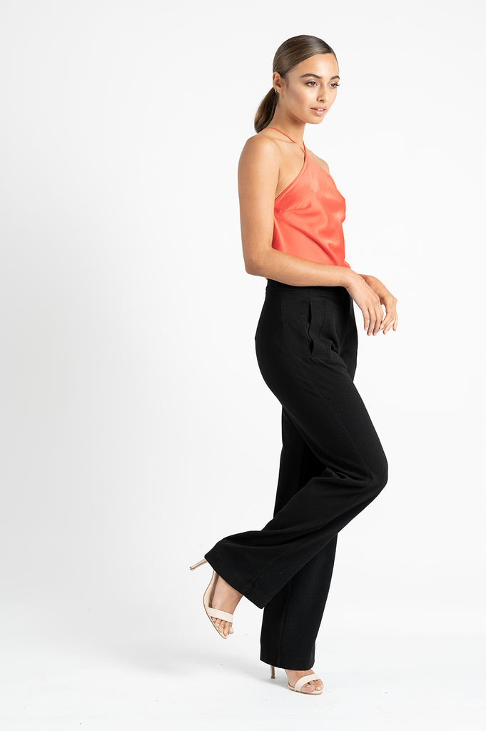 BROOKLYN PANT IN BLACK CREPE