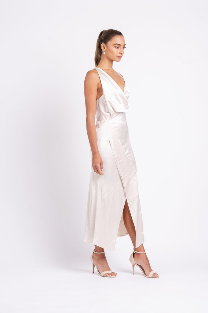 MUSE DRESS IN MOTHER OF PEARL