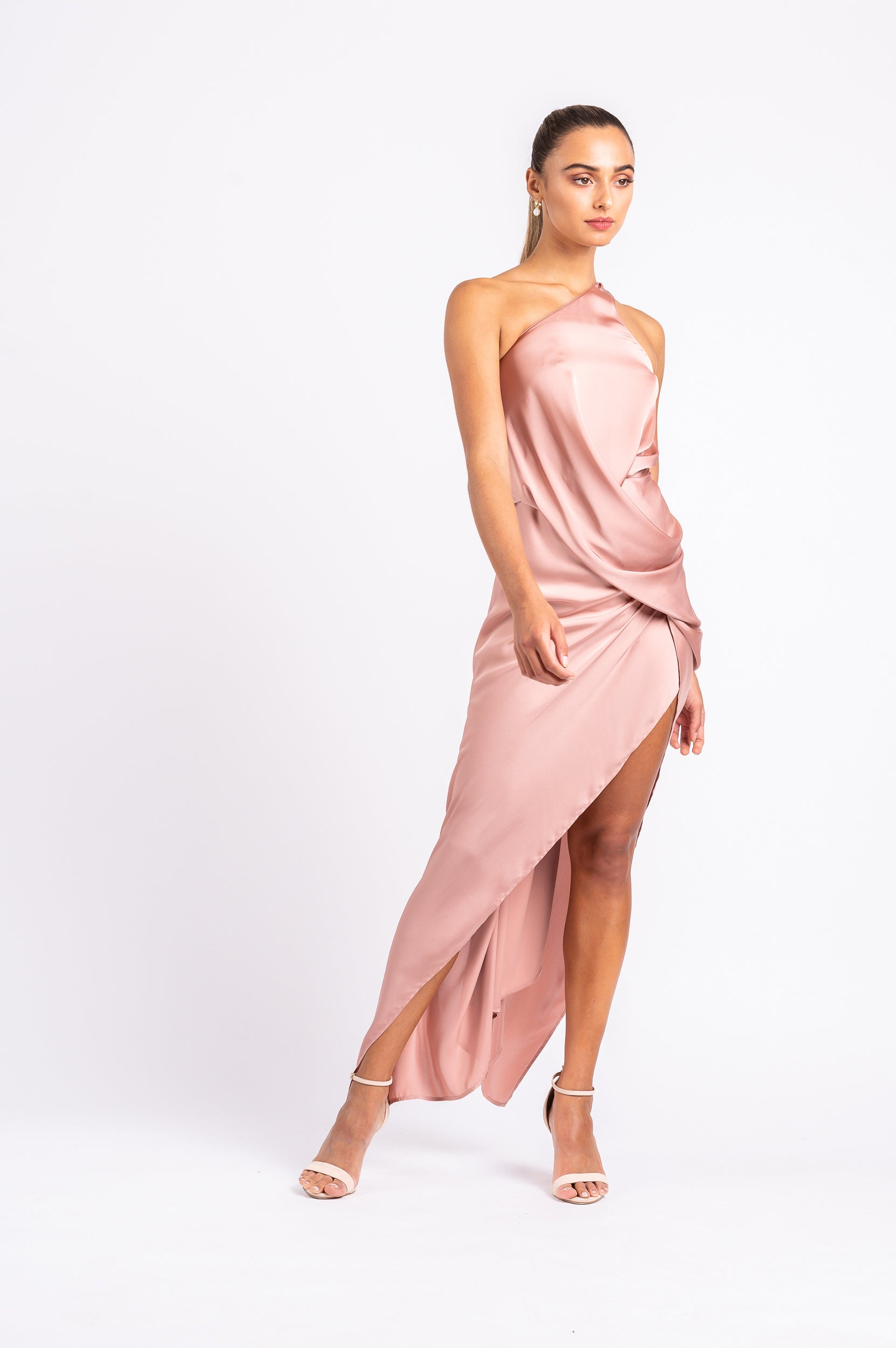 PHILLY DRESS IN DUSTY ROSE PO