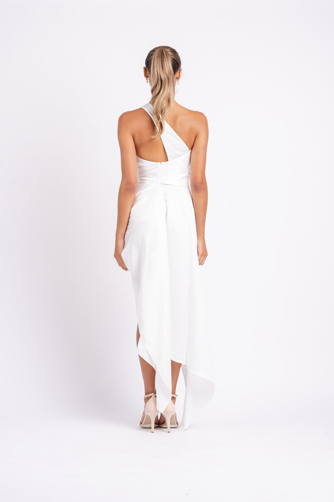 PHILLY DRESS IN WHITE ON WHITE