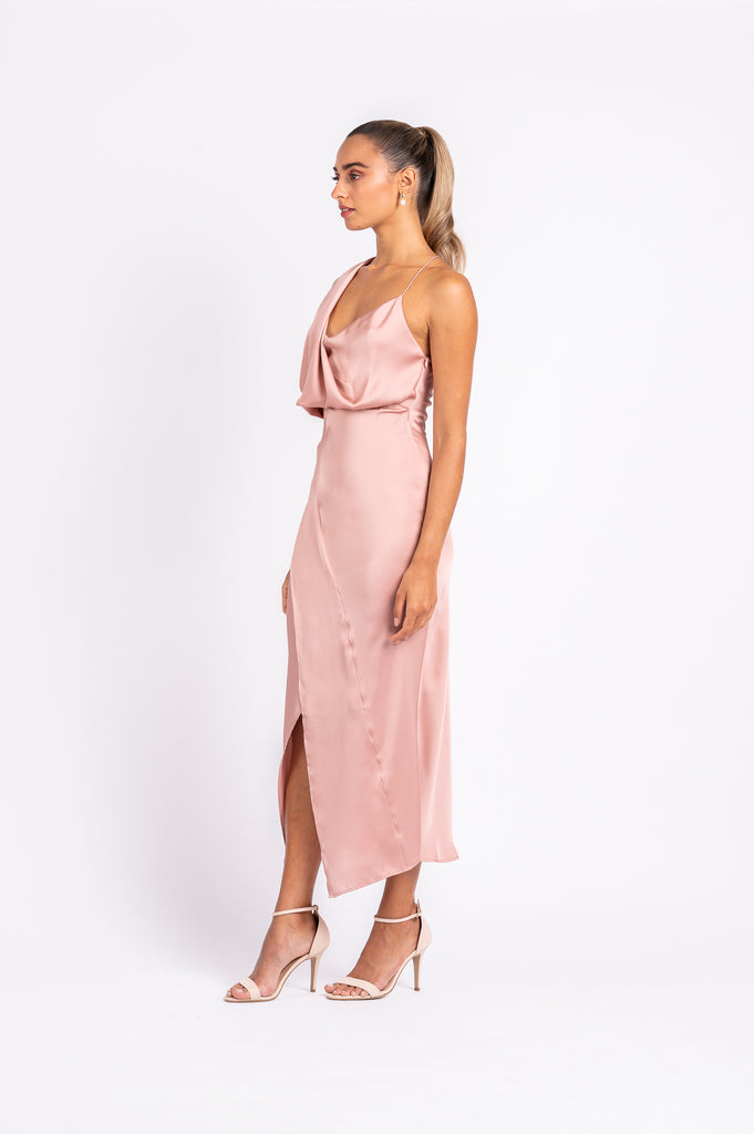 MUSE DRESS IN DUSTY ROSE