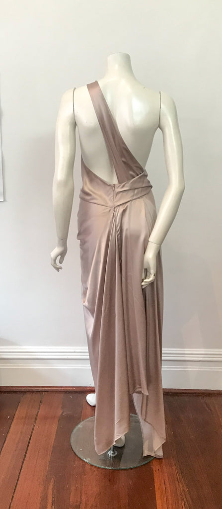 PHILLY DRESS IN PEARL SILK