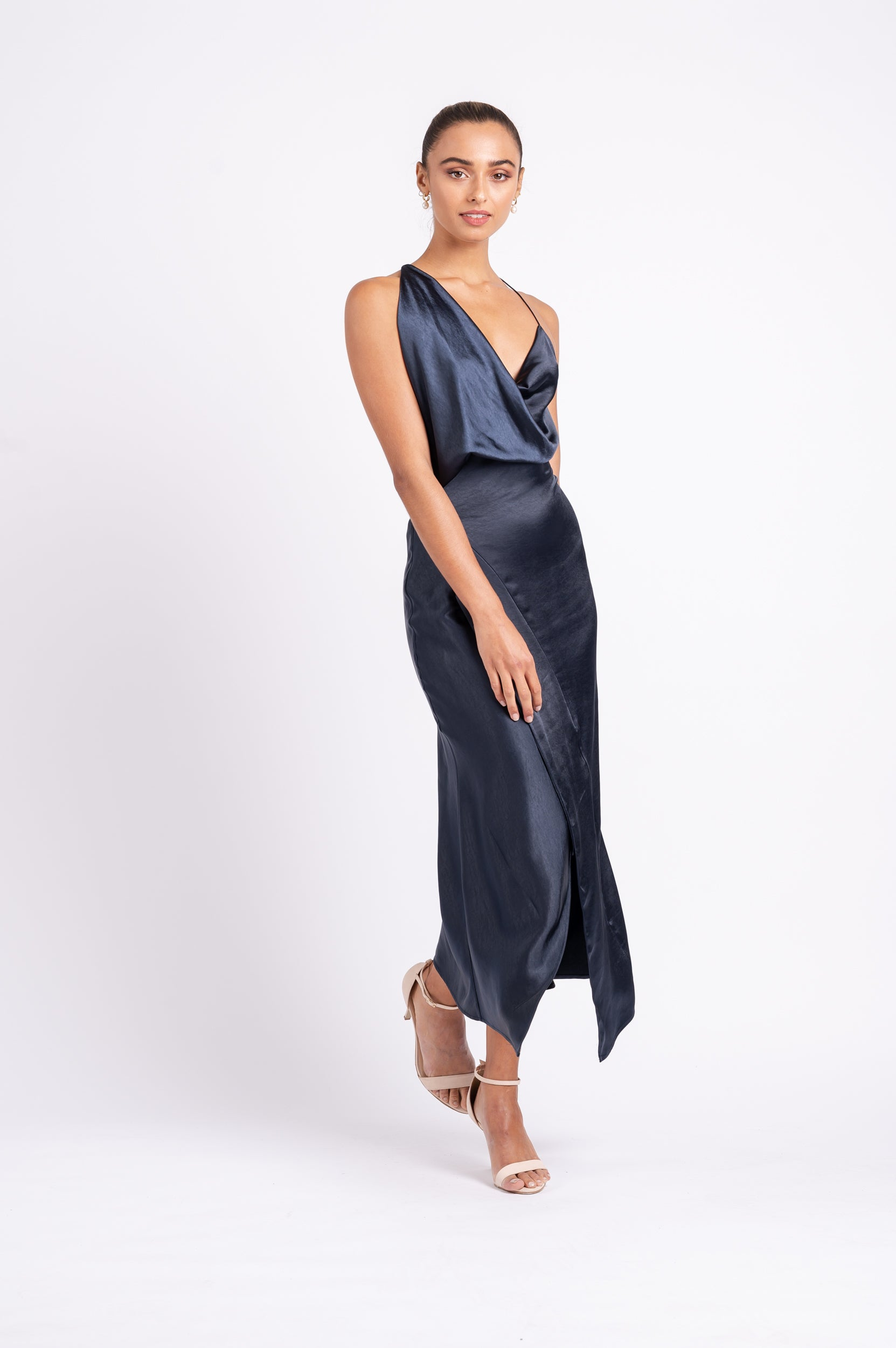 MUSE DRESS IN NAVY PO