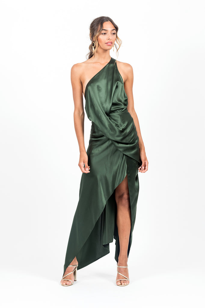 Philly Dress in Jungle Satin