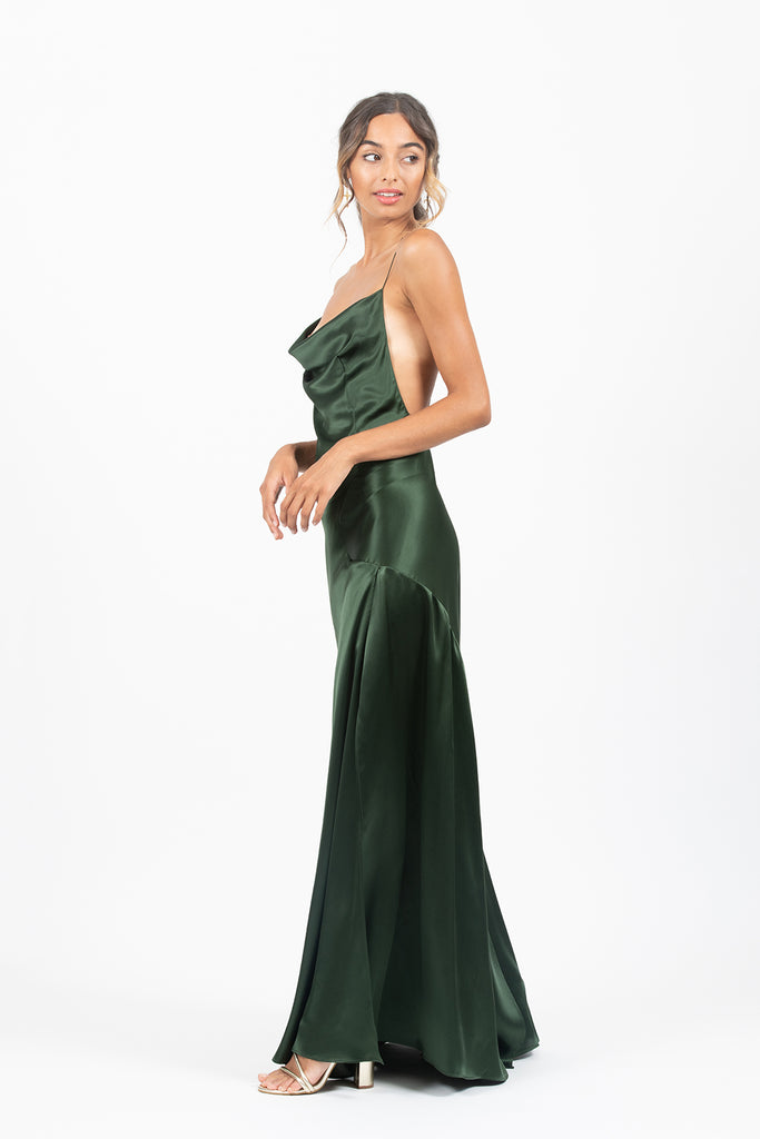 Spenser Maxi in Jungle Satin