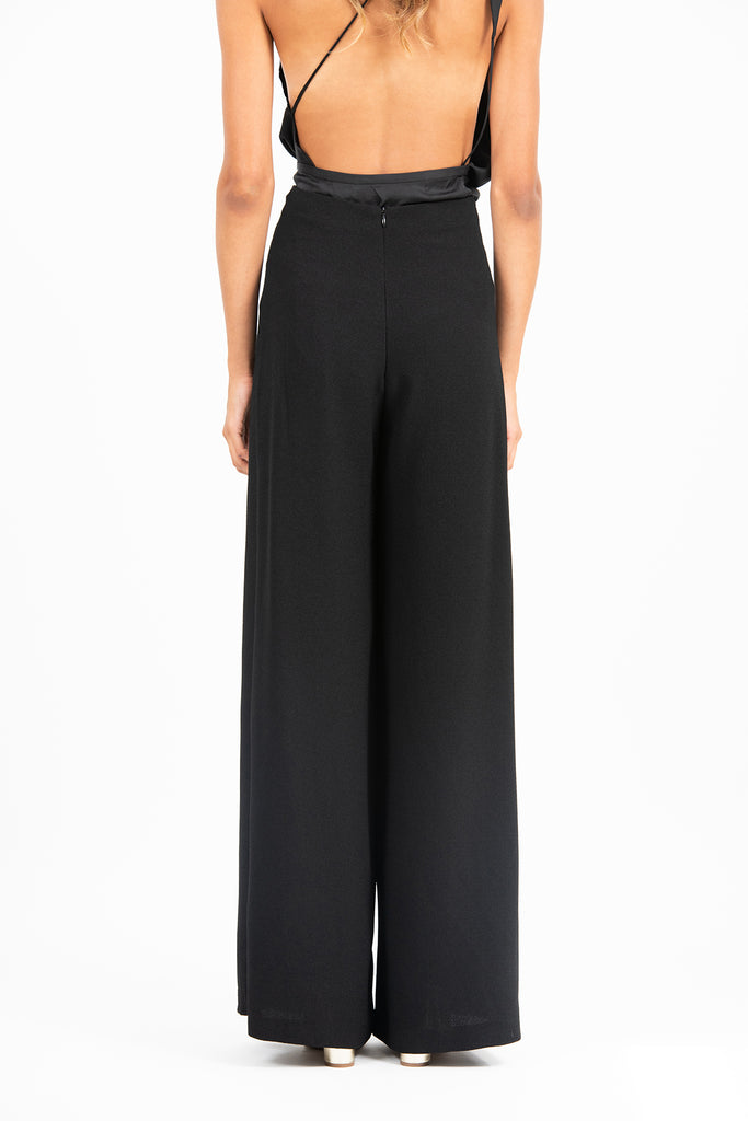 Emily Pant in Black Crepe
