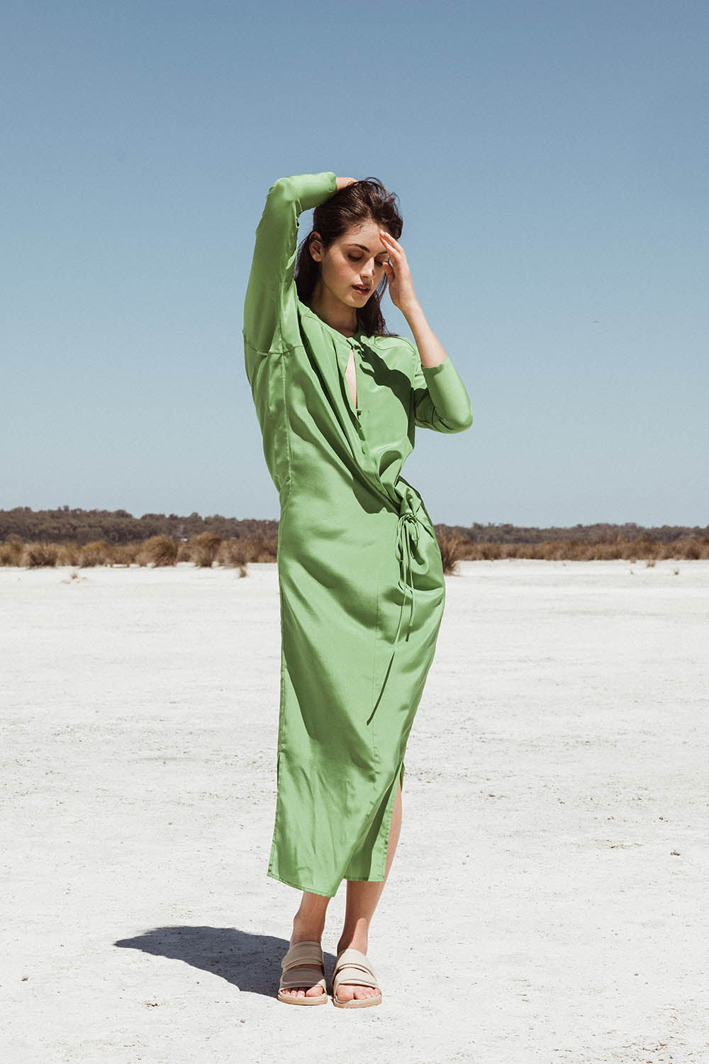 POET MAXI IN APPLE SILK