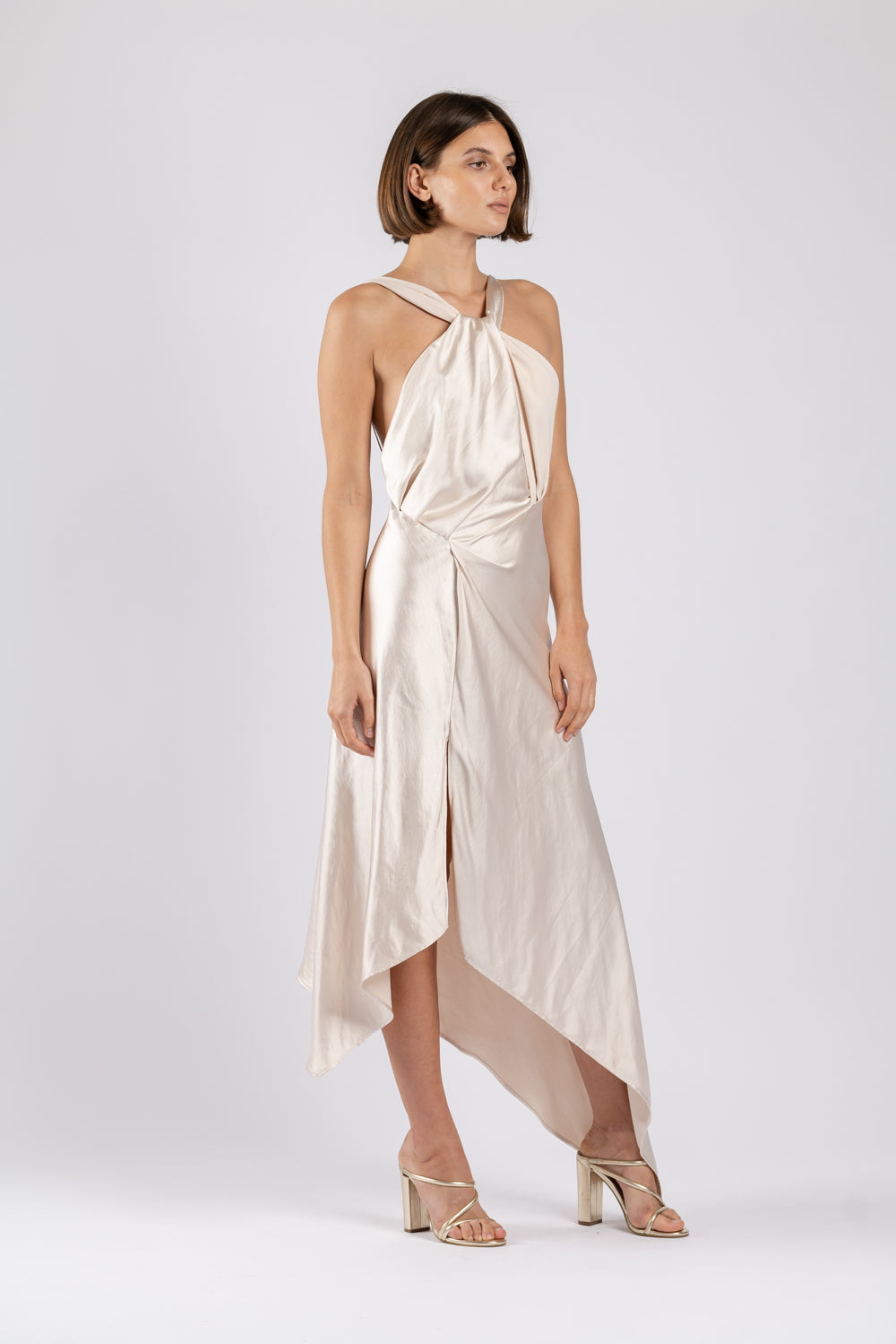 AUDREY DRESS IN MOTHER OF PEARL PO