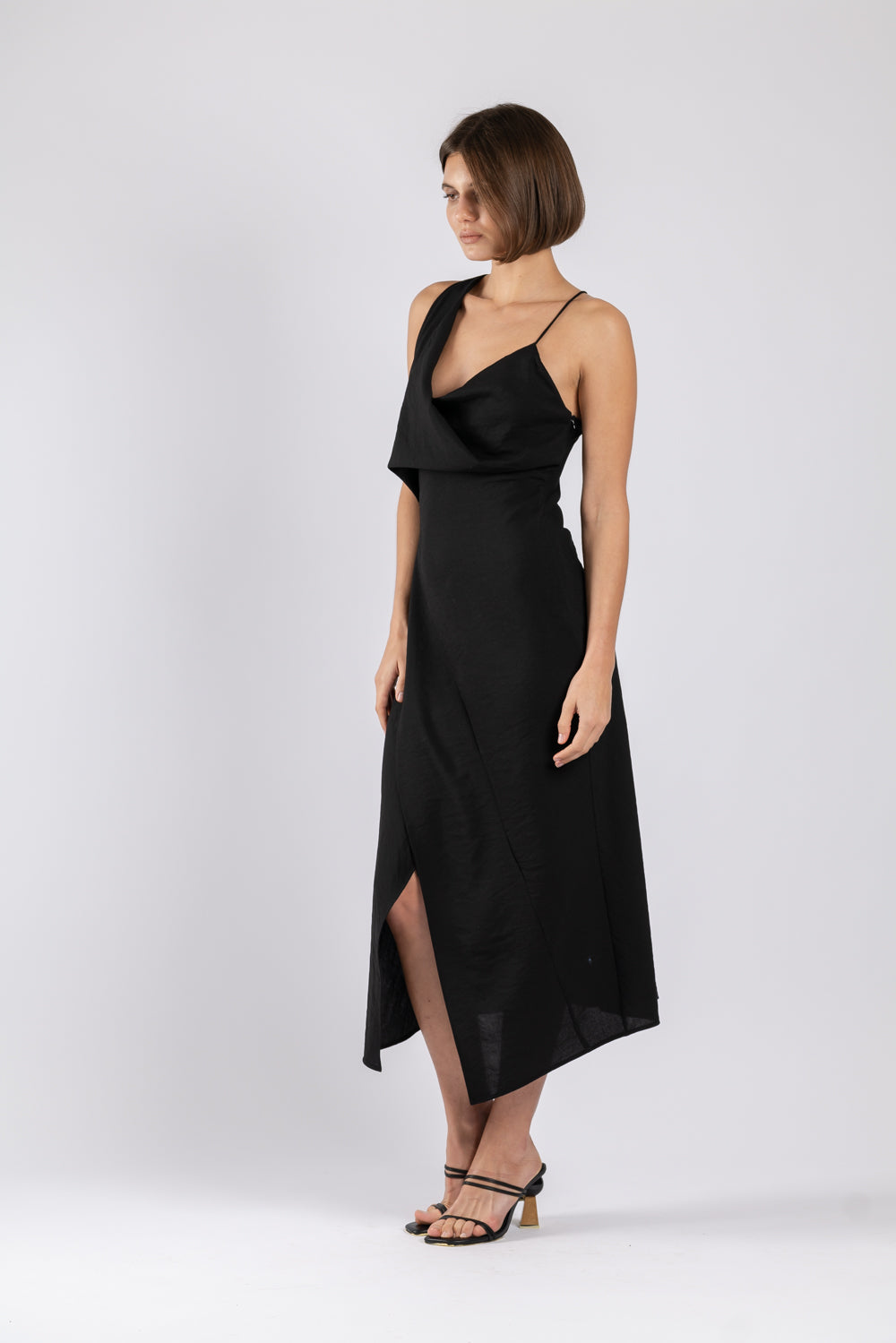 MUSE DRESS IN BLACK TEXTURE