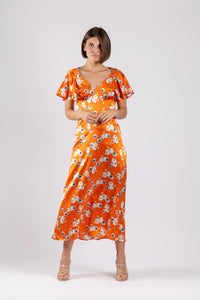 BELLA MIDI IN SOIREE SILK PRINT