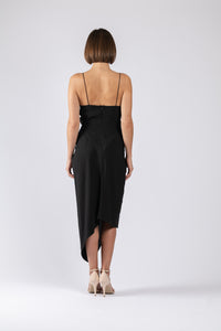 LE LUXE MIDI IN BLACK TEXTURE