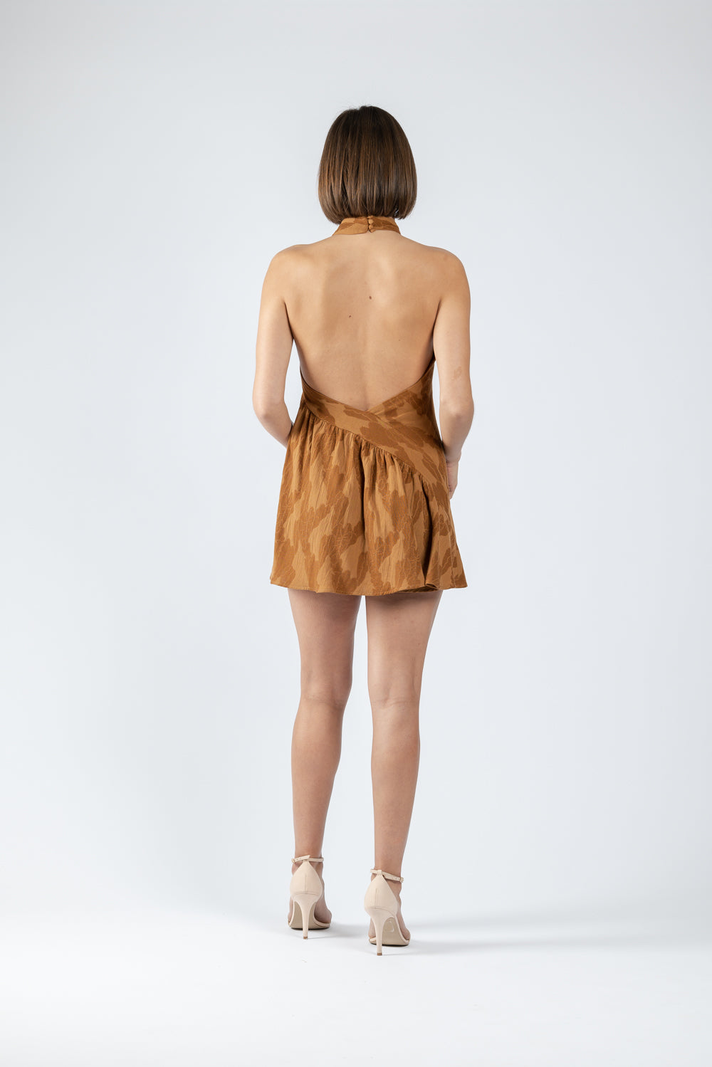 SWAN MINI IN UMBER JACQUARD