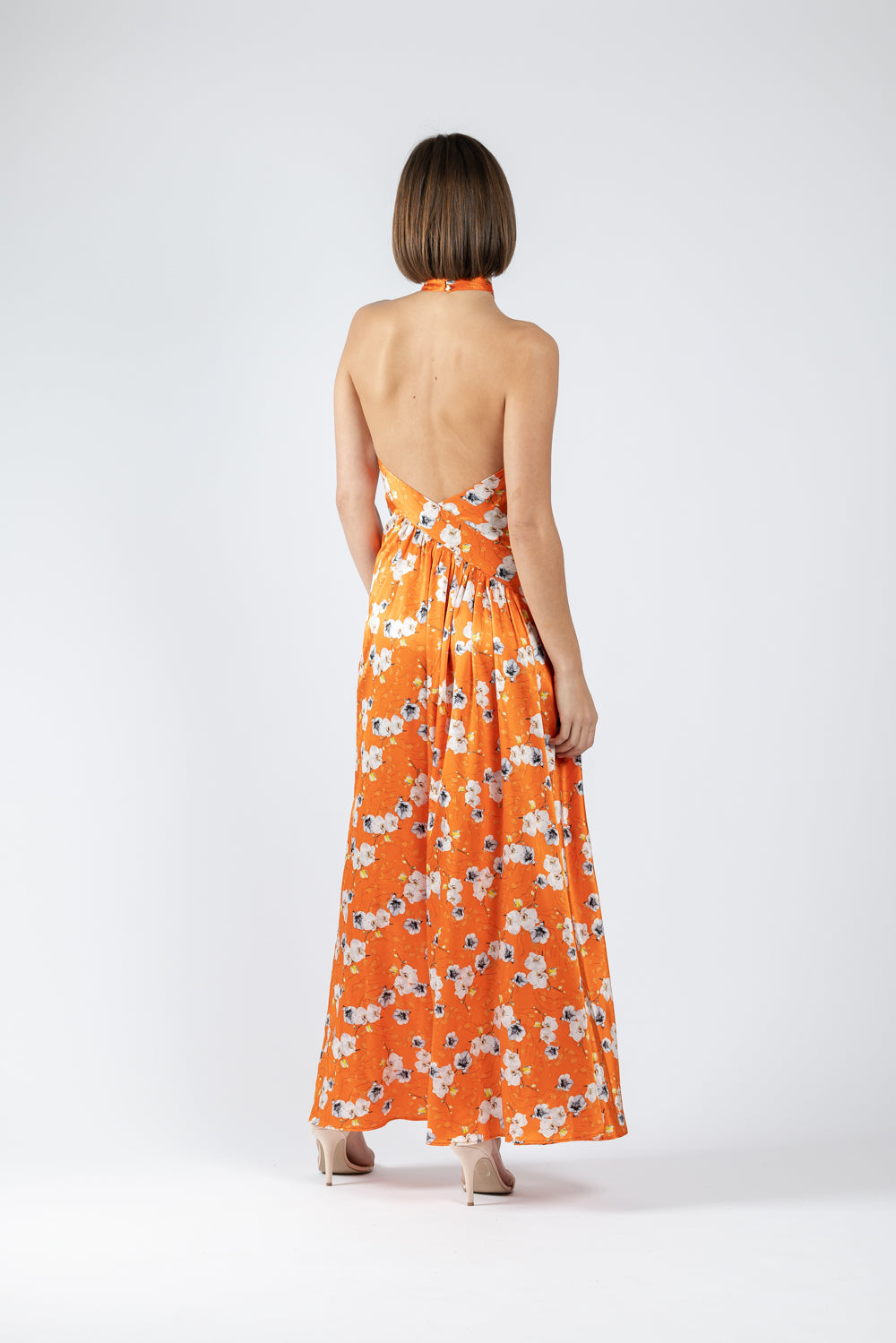 SWAN MAXI IN SOIREE SILK PRINT