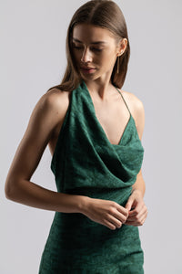 MUSE JUMPSUIT IN MOSS JACQUARD