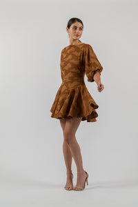 ALICIA MINI IN UMBER JACQUARD