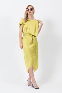 TIPSY TUNIC WITH TIE IN CITRON