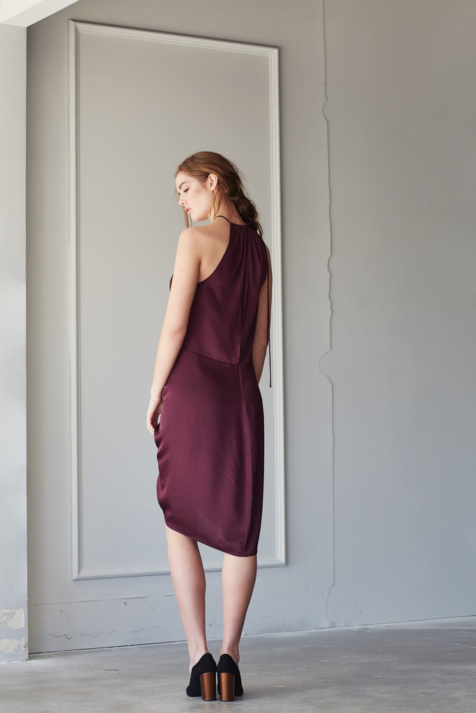 BOHO DRESS IN PLUM
