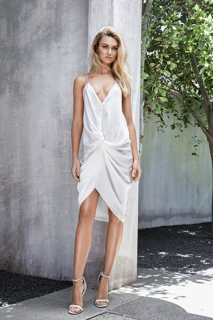 ELANA SLIP SHORT Dress Ivory