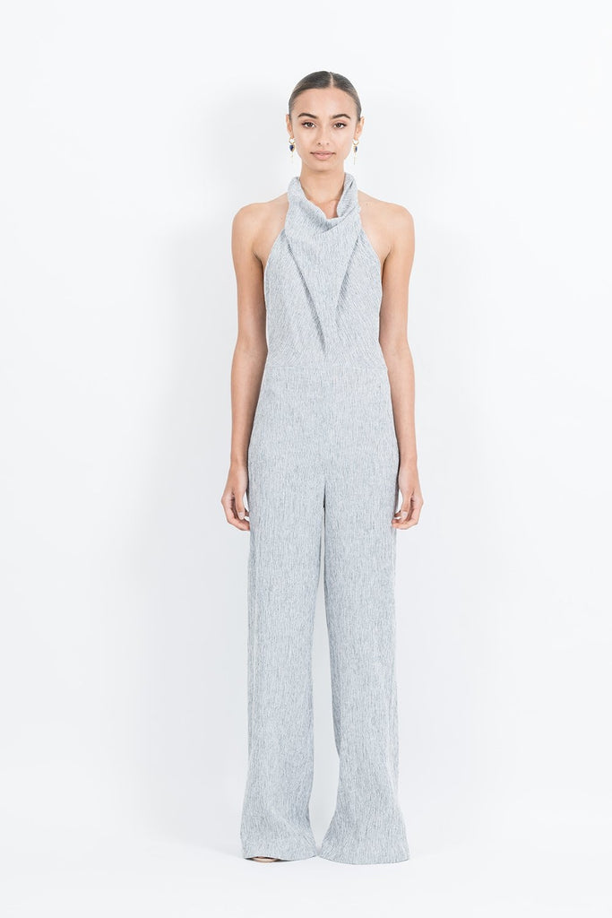 Emily Jumpsuit in Linen Stripe