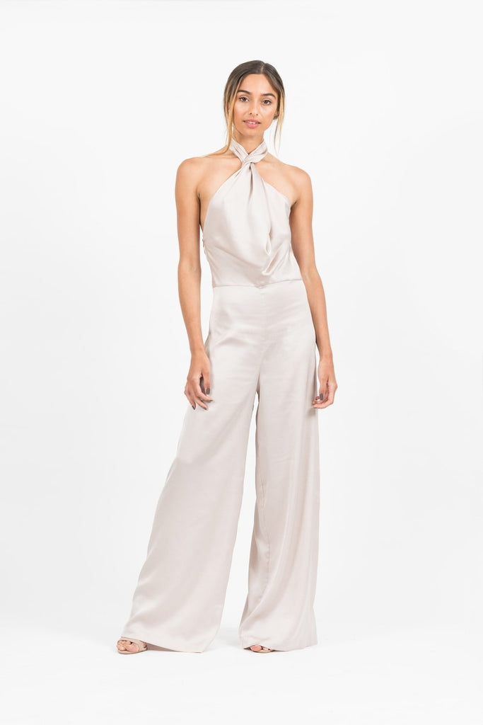 Emily Jumpsuit in Pebble