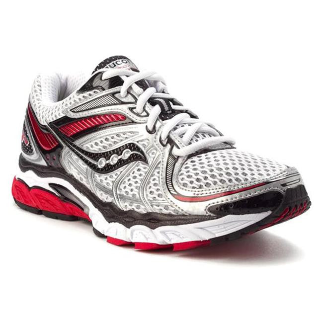 Men's Saucony ProGrid Hurricane 13 Running Shoe  •White/Red/Black• - ShooDog.com