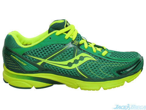 Men's Saucony ProGrid Mirage •Green/Neon Green• Running Shoe - ShooDog.com