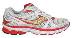 Women's Saucony ProGrid Guide 5 •White/Red/Gold.• Running Shoe - ShooDog.com