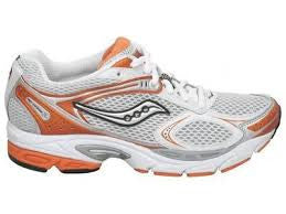 Women's Saucony ProGrid Guide 2 •White/Silver/Orange• Running Shoe - ShooDog.com