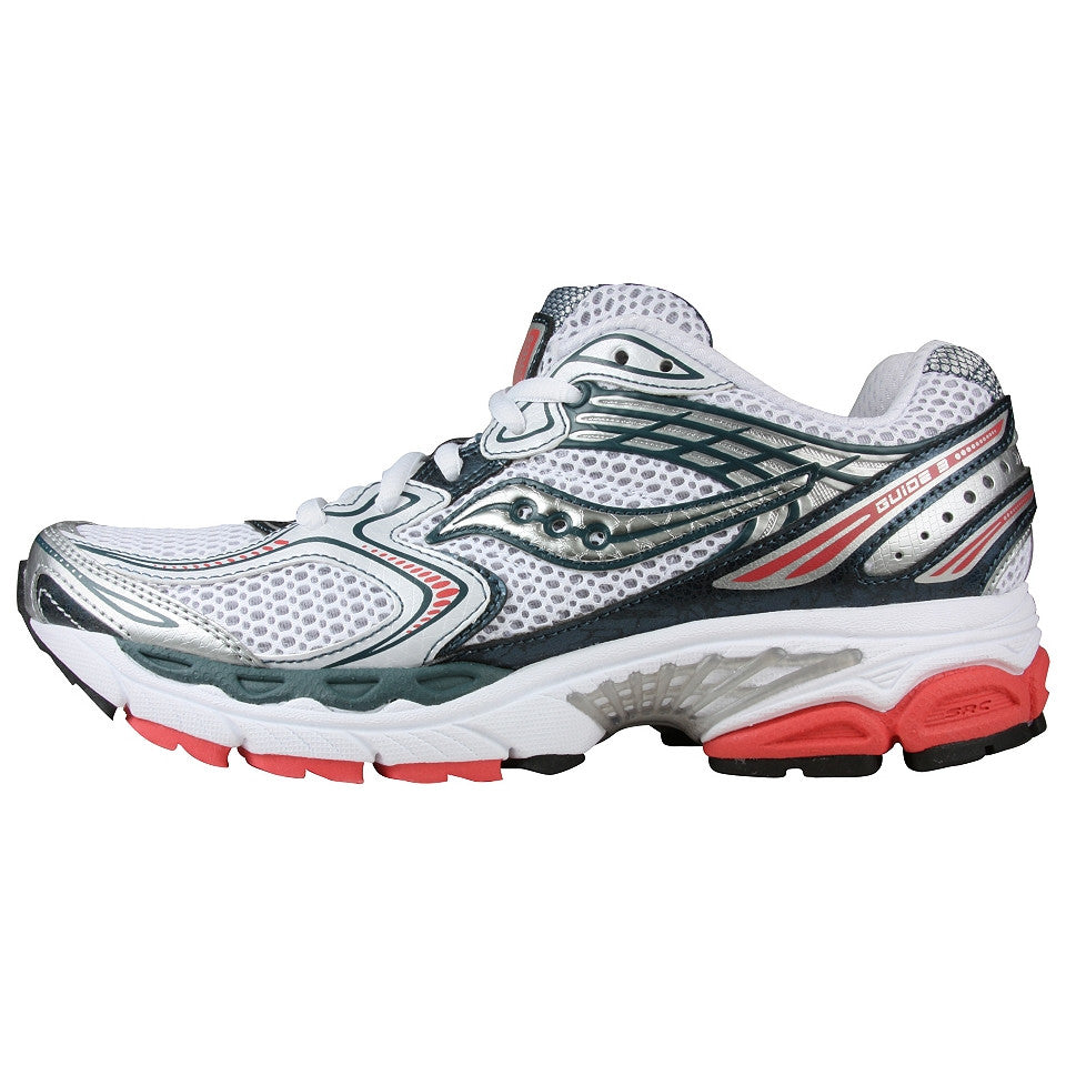 f5cf133b Women's Saucony ProGrid Guide 3 •White/Silver/Red• Running Shoe