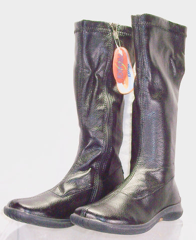 Girl's Primigi Tall Dress Boot  - Black-