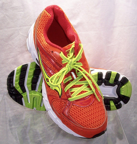 SAUCONY Women's Grid Cohesion 6 -Orange/Citron- Running Shoe Size 8M