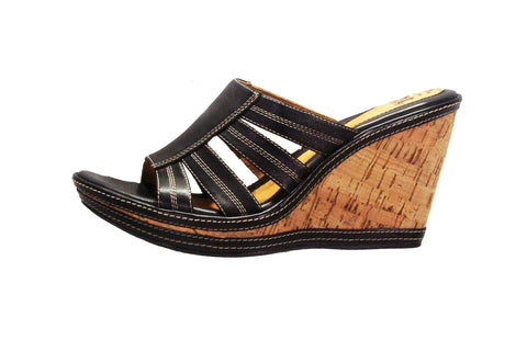 SOFFT Women's •Elizangela• Cork Wedge Slide Sandal