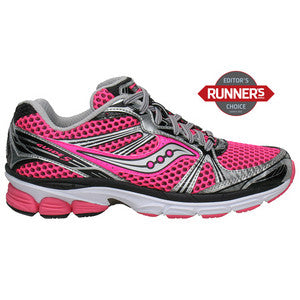 Women's Saucony ProGrid Guide 5 •Pink/Silver/Black.• Running Shoe
