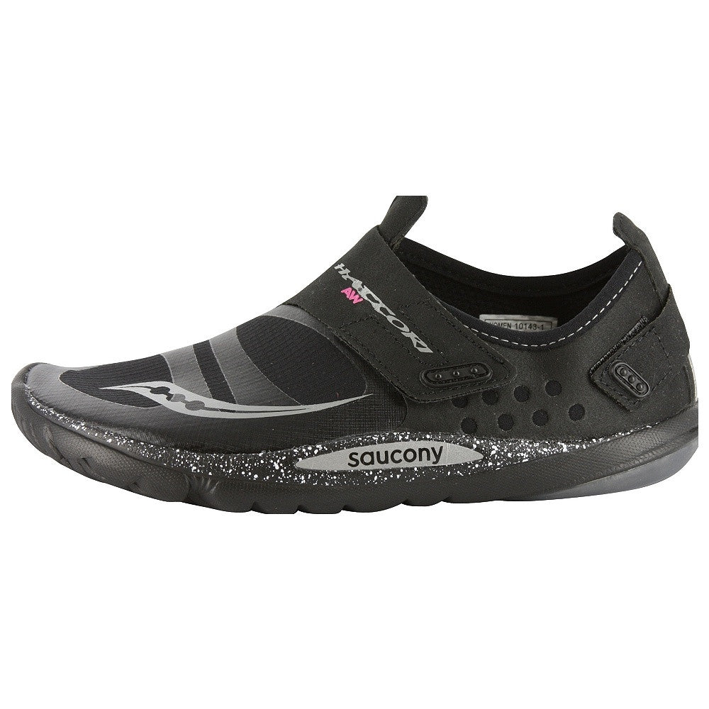... Women's Saucony Hattori AW •Black/Grey• Minimalist Running Shoe