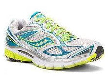 Women's Saucony ProGrid  Guide 7 •White/Teal/Citron• Running Shoe - ShooDog.com