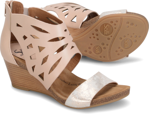 SOFFT Women's •MYSTIC• Zip Wedge Sandal