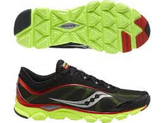 Men's Saucony Virrata •Black/Red/Neon Green• Running Shoes - ShooDog.com