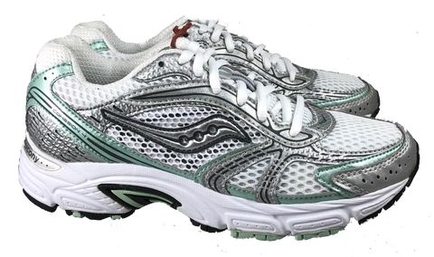 SAUCONY Women's Grid Cohesion 4 -White/Silver/Mint-