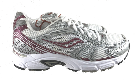 SAUCONY Women's Grid Cohesion 4 -White/Silver/Red-