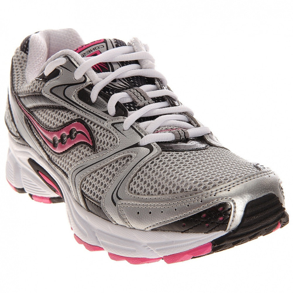 SAUCONY Women's Grid Cohesion 5 -Silver/Black/Pink- Running Shoe •Wide Width• - ShooDog.com