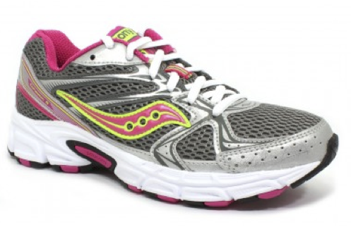 SAUCONY Women's Grid Cohesion 6 -Grey/Pink- Running Shoe