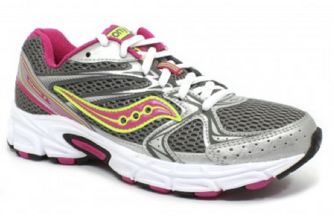 SAUCONY Women's Grid Cohesion 6 -Grey/Pink- Running Shoe - ShooDog.com