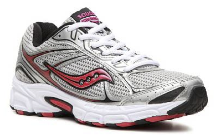 SAUCONY Women's Grid Cohesion 7 -Silver/Pink- Running Shoe •Wide Width•