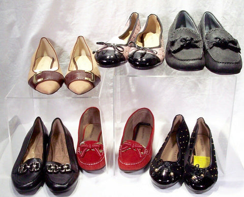 6 Pair Women's Adrienne Vittadini Flat & Low heel Shoes - Size 6 - New-WOB