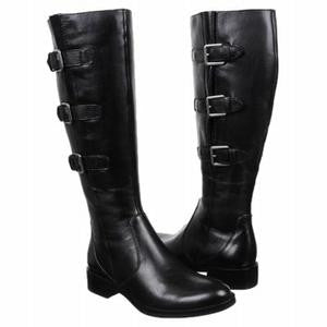 "ECCO Women's ""Hobart"" Tall Buckle Boot -Available in Black or Cognac- - ShooDog.com"
