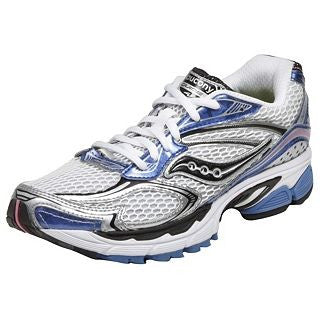 Women's Saucony ProGrid Guide 4 •White/Blue/Silver• Running Shoe - ShooDog.com